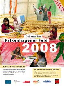 Kalender 2008, Bei uns im Falkenhagener Feld, Kinder malen ihren Kiez