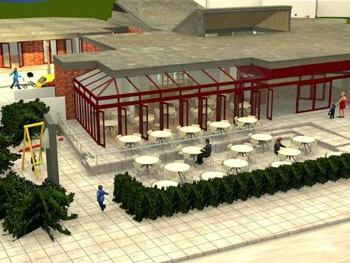 Visualsierung Umbau zum Mehrgenerationenhaus Paul-Gerhardt-Gemeinde in Berlin-Spandau