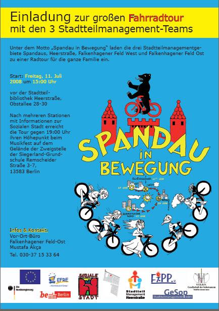 Spandau bewegt, Fahrradtour der Stadtteilmanagements in Spandau am 11. Juli 08