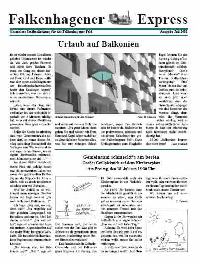Falkenhagener Express, Urlaub auf Balkonien