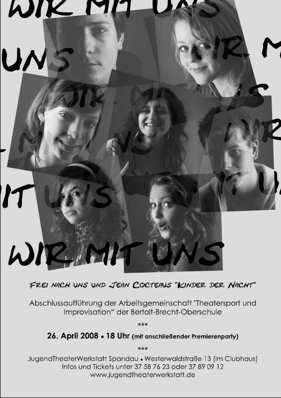Wir mit uns, Plakat zum Theaterstück